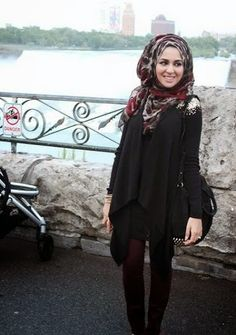 15 modern way to wear hijab fashion   for women (18)