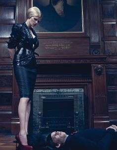 Discipline with Lara Stone.   Photograph by Steven Klein; styled by Camilla Nickerson; W magazine September 2009.