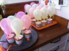 Luchtballon met spekjes in het mandje