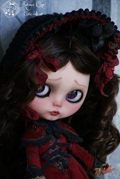Flowers in my eyes by Rebeca Cano ~ Cookie dolls   Gersendre Winter Berry  www.facebook/cookiedolls