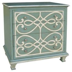Four-drawer chest with looped detail and fluted feet.   Product: Chest  Construction Material: MDF    Colo...