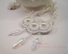 Perlengefädelter Brautschmuck weiße Halskette für die von BeadFizz
