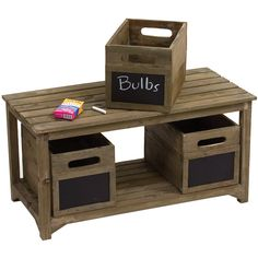 Madison Bench with Crates - love this