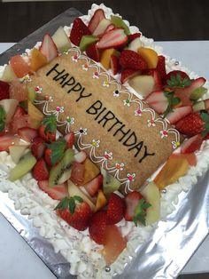 バースデーケーキ Strawberry, Happy Birthday, Fruit, Food, Happy Aniversary, Happy Brithday, Meal, Urari La Multi Ani, The Fruit