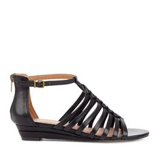 small wedge gladiators. I have something very similar in brown and white...why not black??