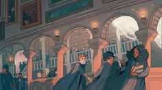 "sasmilledge: ""a harry potter print done to sell at conventions this year "" Harry Potter Fan Art, Harry Potter World, Mundo Harry Potter, Harry Potter Drawings, Harry Potter Universal, Harry Potter Fandom, Harry Potter Memes, Harry Potter Illustrations, Potter Facts"