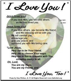 Jesus Love Poems 1