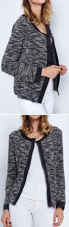 Free Shipping & only $21.99! This elegance knitting cardigan is so simple yet so amazing! The lapel design and open front will have you wanting to wear this one over and over again. More picked up for you at Cupshe.com !
