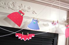 Party dress banner at a Baby doll party #babydoll #partybanner