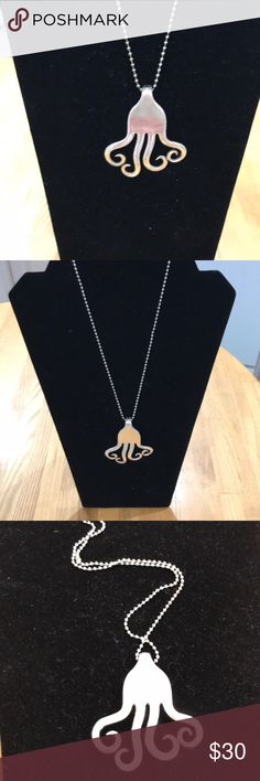 """Twisted Fork Necklace Handcrafted Made in Maine silver fork hand twisted into a fork pendant. Highly polished. 17"""" chain . Handcrafted Jewelry Necklaces"""