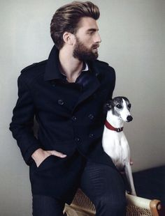 A man and his whippet