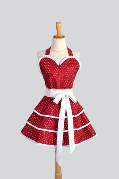 Christmas time calls for a Christmas Apron. This handmade Cute and Sexy Ruffled one would be the perfect gift.