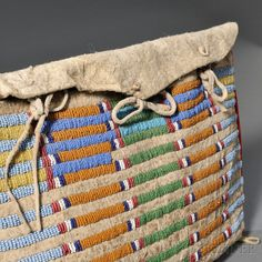 Crow Beaded Hide Possible Bag | Sale Number 2636B, Lot Number 115 | Skinner Auctioneers