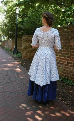 revolutionary war clothing | Blue and White Revolutionary War Bodice and Skirt