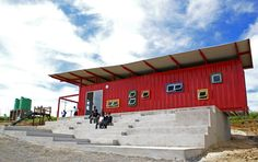 vissershok container classroom by tsai design studio, cape town