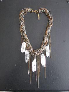 Tangled Chain and Stone Bib by savagesalvage