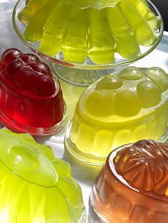Vintage Glass Jelly Moulds