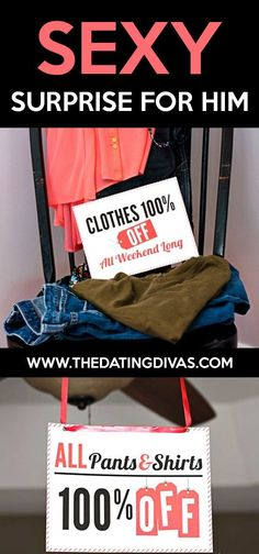 The perfect SEXY surprise for him! He's gonna LOVE this! #marriedlife Surprise For Him, Romance Tips, Sexy Gifts, Anniversary Dates, Dating Divas, Good Dates, Romantic Gifts, Love Notes, Married Life