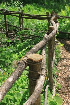 Image result for how to make a garden fence out of branches