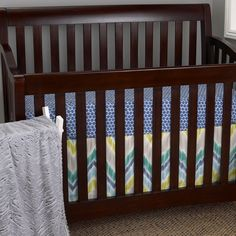 Zebra Romp - 3pc gender neutral chevron Bedding Set ($149)