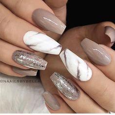 Marble & brown