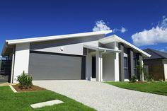 Doppelgarage modern pultdach  Moderner Bungalow mit Pultdach und Doppelgarage | Design ideas ...