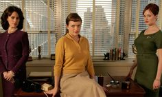 Mad Men (l-r) Rachel Menken, Peggy Olson and Joan Holloway. Photograph: BBC/AMC