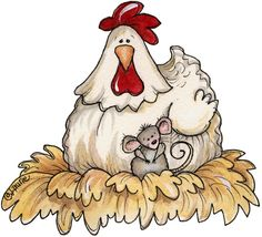 chicken & mouse #clipart