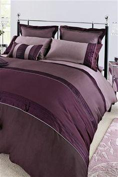 Buy Plum Velvet Panel Bed Set from the Next UK online shop