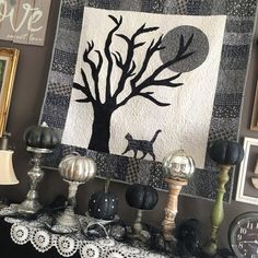 All Hallow's Eve Quilt, Halloween quilt, free pattern
