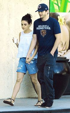 Mila Kunis & Ashton Kutcher from The Big Picture: Today's Hot Pics  The newlyweds stroll hand-in-hand after getting a couple's massage in Studio City, Calif. How sweet is that?