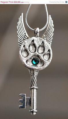 SALE  My Paw Print Key Necklace by KeypersCove on Etsy, $8.99