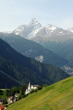 View of the Alps near Davos.