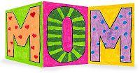 Progetti d'arte per bambini: Giorno della madre della scheda Z-Fold