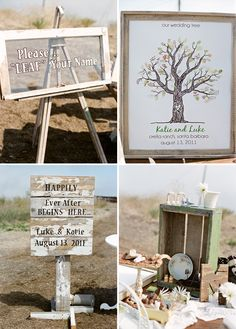 sign and wedding tree guest book
