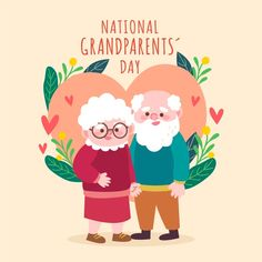 National Grandparents Day, Hand Drawn, Vector Free, How To Draw Hands, Concept, Usa, Drawings, Fictional Characters, Calendar