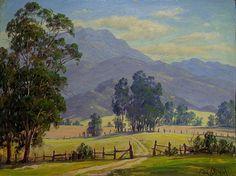 """Paul Grimm """"Ranch Land Eucalyptus"""" 12x16 Oil on Board"""