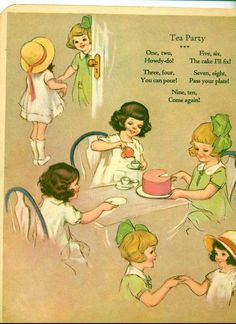 Mormor's children talked about how she fixed little tea parites for them.  These illustrations make me think of the fun they had. Roy Best My rhyme and picture book