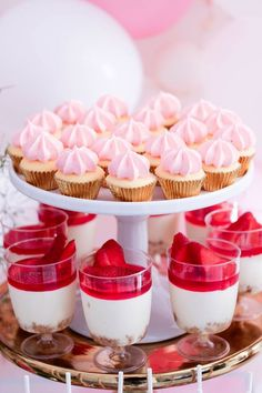 Desserts from a Pink + White & Gold Garden Party via Kara's Party Ideas | KarasPartyIdeas.com (8)