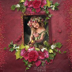 Digital Art :: Bundled Deals :: Angel Rose (collection + FREE with purchase) Floral Wreath, Digital Art, Scrap, Angel, Rose, Creative, Layouts, Painting, Kit