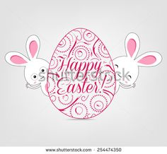 Ornamental easter egg and bunny