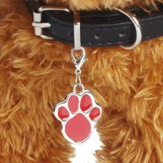 New 6 colors Pet Jewelry Cat dog collar pendant tags Pawprint Necklace Collar Puppy identity collar accessory drop