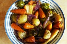 Recipes Roasted Vegetables : Roast Vegetables & British Bubble and Squeak with My Virgin Kitchen - Recipes Roasted Vegetables Video Recipes Roasted Vegetables Barry creates a classic Christmas Day side dish recipe - roasted vegetables, glazed in sweet Bubble And Squeak, Vegetable Side Dishes, Vegetable Recipes, Vegetable Soups, Veggie Fritters, Roasted Vegetable Salad, Cooked Carrots, Kitchen Recipes, Veggies