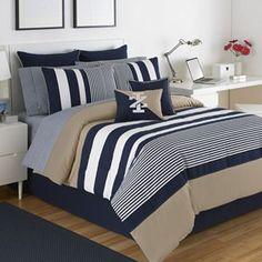 IZOD Classic Stripe 4-pc. Reversible Comforter Set - Queen