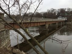 The pedestrian bridge over the Fox River at North Street offers nice views of East and West Dundee.