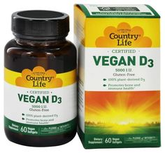 COUNTRY LIFE VITAMINS VEGAN D3,5000IU, 60 SGEL >>> Check this awesome product by going to the link at the image.