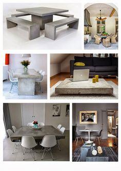Concrete and Acacia Furniture
