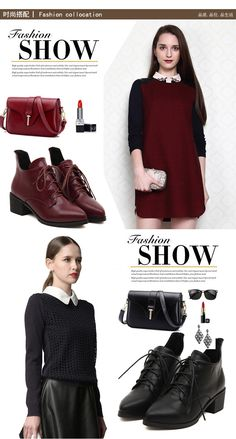 Pointed Toe Martin Boot for Girls | Upper Material: PU Outsole Material: Rubber Heel Height: 5 cm Color: Black, burgundy