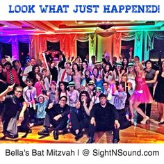 Challah!  It's Party Time...All the Time!  Our latest group of 'FUNATICS' at Bella's Bat Mitzvah.  www.SightNSound.com