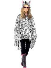 Zebra Party Poncho. be ready for the weather in this classic, cool poncho. http://www.novelties-direct.co.uk/party-theme-music-festival-cow-party-poncho.html